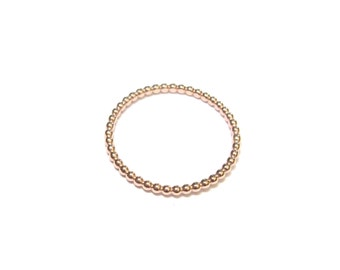 Fine beaded vermeil Rose - stacking ring