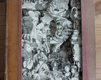 Punch Annual 1877 - 3D Book - Book Art - Book Sculpture - Altered Book - Sculpture de Livre - Humour - History