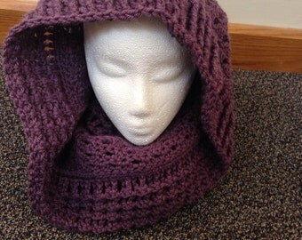 Crochet Cowl Shrug Hood Stacked Shell Design Versatile Accessory