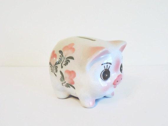Cute Piggy Bank Side View