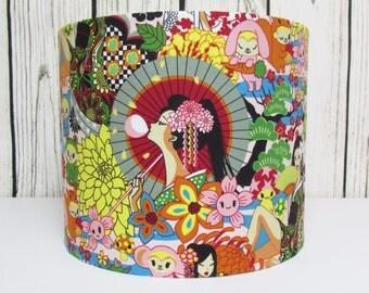Anime Oriental Lampshade Japanese Geisha's