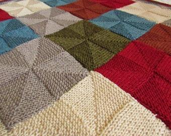 Sale! Hand-Knit Pinwheel Baby Blanket