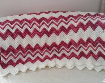 Pink and Cream Afghan