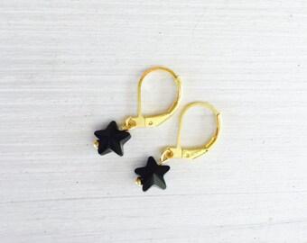 Black Star earrings Swarovski