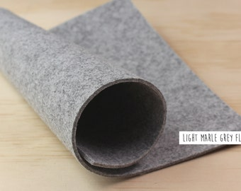 FELT_Grey_Light Marle Grey_3mm thick_20cm x 30cm