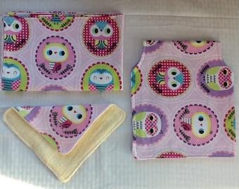 Owl 3 Piece Baby Set