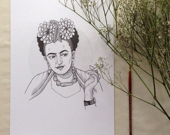 Frida Kahlo - A4 print