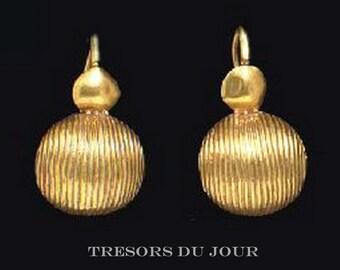 Etruscan Earrings Unique Solid Gold Earrings 'Ravenna' 14k 18k GOLD EARRINGS Antique Roman Earrings Dangle Unique Gold Drop Earrings