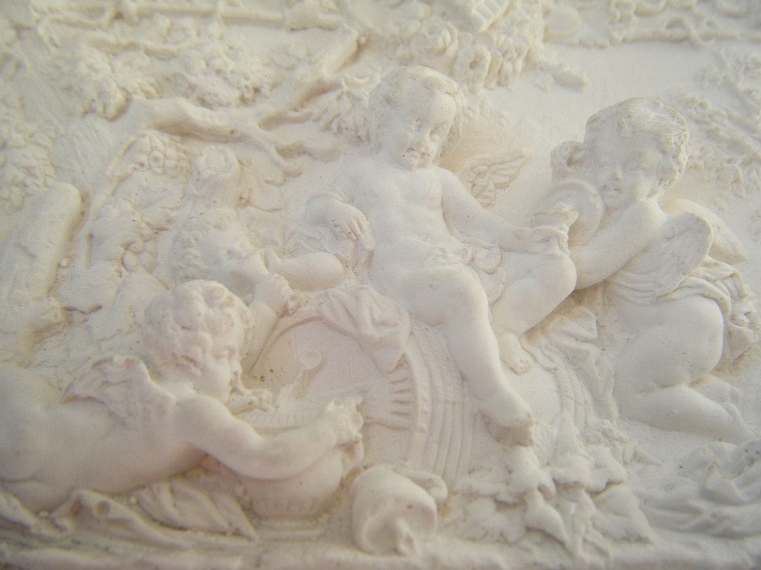 Plaster Of Paris Wall Designs: Vintage Plaster Plaque Plaster Wall Art Plaster Wall Decor