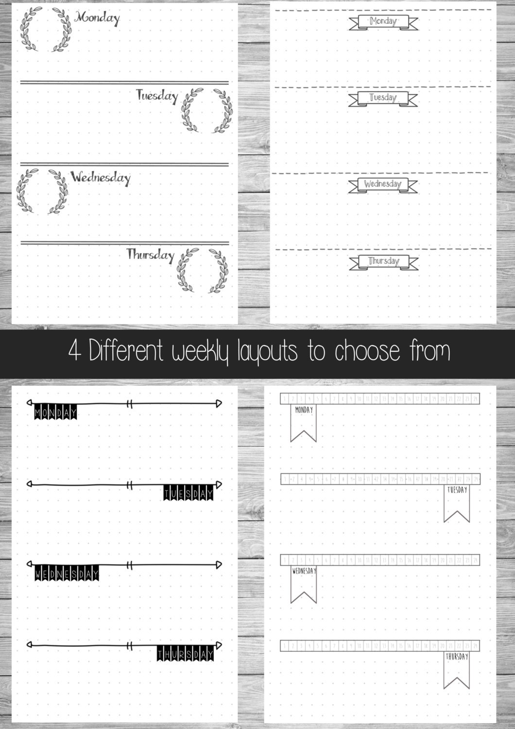 This is a graphic of Unusual Bullet Journal Template Pdf