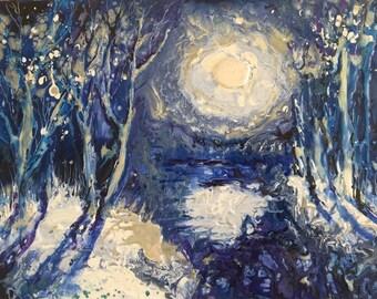 """unique painting """"Night"""""""