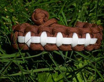 Football Survival Paracord Bracelet, Sports Parachute Cord Jewelry, Men's Sports Jewelry, Para cord Sports Bracelet, Kids Bracelet