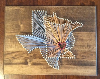 Overlapping nail string art