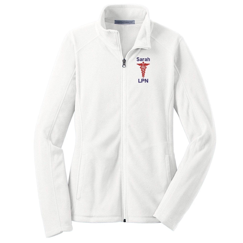 Nurse Caduceus Full Zip Fleece Jacket Nurse Microfleece