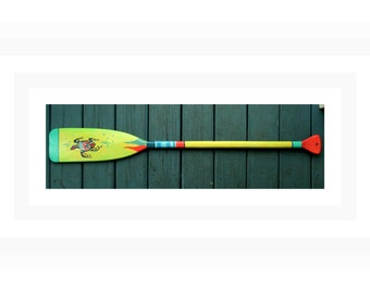 "Canoe Paddle ,Oar, Hand Painted Paddle, 46"" –""Beachcomber Series""-Coastal DécorChoice of colors and Patterns - Personalize or add Coat Hooks"