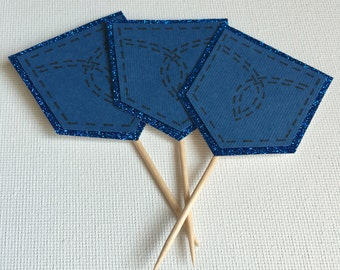 Denim Pocket Cupcake Topper