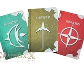 Fan-made Fire Emblem Spell Tomes Robin Thoron Arcfire Elwind inspired personalized journal notebook