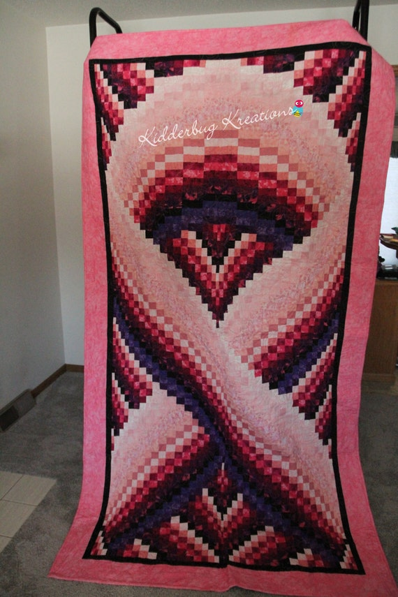 Items Similar To Breast Cancer Ribbon Quilt On Etsy