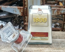 1800 Tequila Liquor Bottle Candle with Snuffer Top