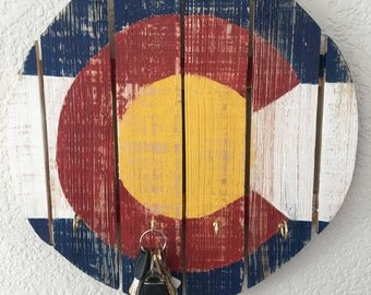 Key Holder Colorado Flag