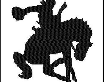 Horse rider rodeo embroidery design 4x4