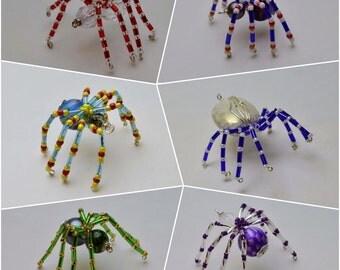 Beaded Spiders / Halloween Spiders/ Christmas Tree Spiders