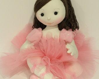Ballerina doll , cloth doll, stuffed doll