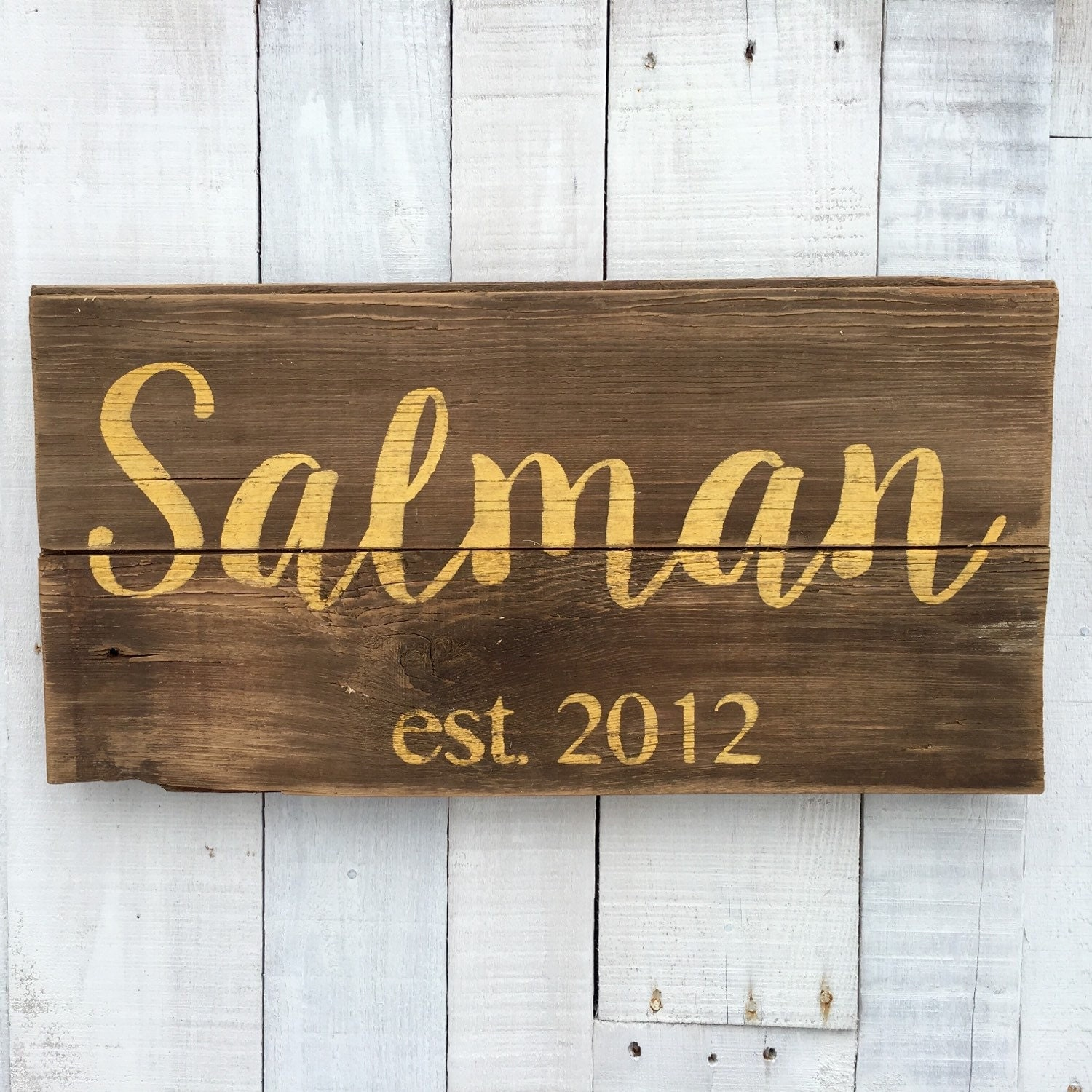 Wedding Gift Name Sign : Custom Wedding Gift Family Name Wood Sign by EverydayCreationsJen