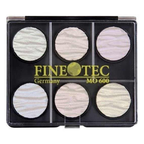 Finetec Moir E Watercolor Pan Set For Calligraphy And