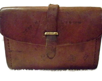 Vintage Leather Ammo Case, Ammo pouch, leather case, hunting accessory