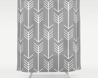 "Custom Shower Curtain -  71"" by 74"" Home, Decor, Bathroom, Bath, Dorm, Girl, Christmas, Gift, Boho, Arrow, Pattern, Abstract, Choose, Color"
