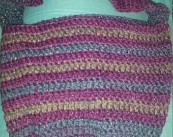 Crochet cross body tote