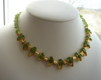 Necklace with genuine Peridot.