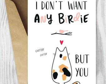 Printable Anniversary Card, Cute Romantic Anniversary Card, Funny Cats Printable  Card, Instant Download