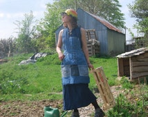 Recycled Denim Apron with Pockets