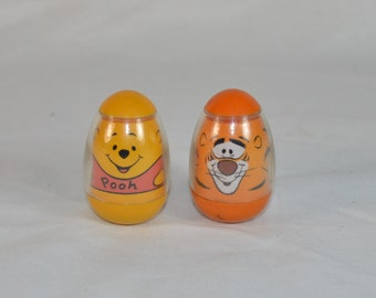 Winnie the Pooh and Tigger Weebles 1973 Romper Room Hasbro