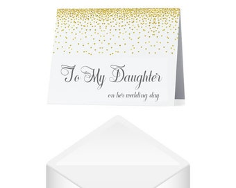 To Our Daughter on Her Wedding Day Card- Daughter Wedding Card- Daughter Wedding Greeting Card- To My Daughter on Her Wedding Day Card