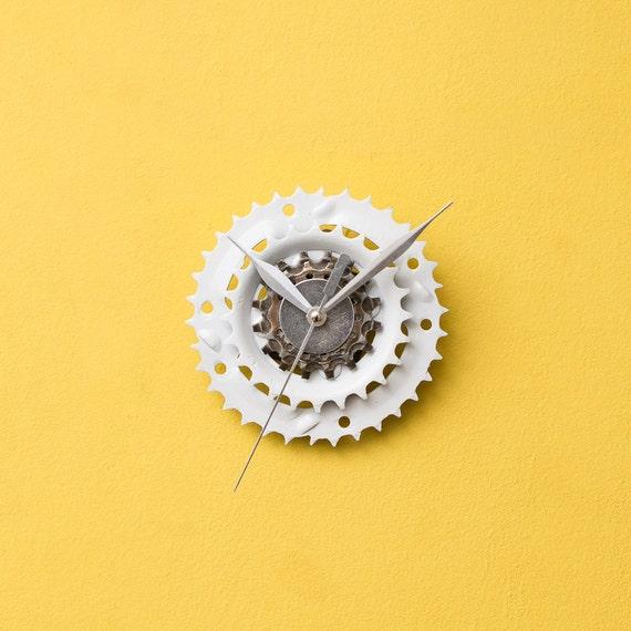 Unique Bike Clock, Industrial Decor, Small Wall Clock, Bicycle Clock, Bicycle Clock, Contemporary Clock, Boyfriend Gift, Husband Gift