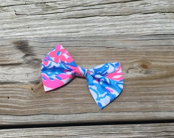 POP POP Lilly Pulitzer Fabric Bow 2 sizes