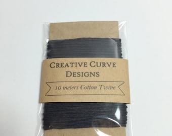 Cotton Twine  -  Black - 10 meters