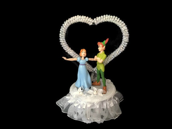 peter pan and wendy wedding cake topper wedding cake topper disney wedding cake by 18306