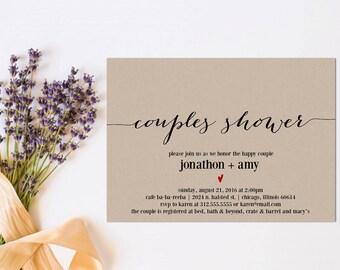 Printable Couple's Shower Invitation, Printable Invitation, Couple's Shower, Instant Download, Wedding Shower, Editable Invitation, WSET2