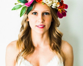 Lush Tropical Flower Crown