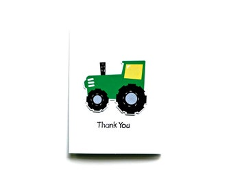 Tractor Party Thank You - Tractor Shower Thank You Card - Tractor Birthday Thank You - Tractor Baby Shower Thank you Cards