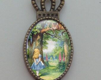 bookmark - Alice with Cheshire Cat
