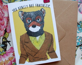 Fantastic Mr Fox Wes Anderson Greeting Card