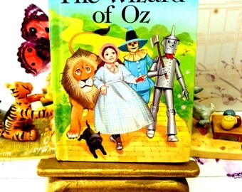 The Wizard of Oz Vintage LadyBird Book Well Loved Tales Glossy Cover 1984 Dorothy Toto Tin Man Cowardly Lion