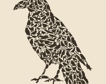 Raven Fine Art Print 8x10 for Bird Lovers
