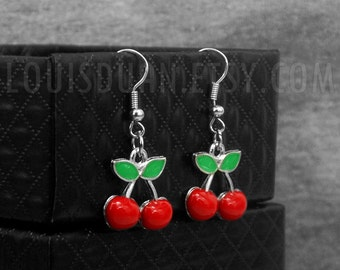 Cherry Earrings -Fruit Earrings -Dangle Earrings -With Jewelry Box