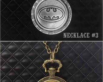 Batman Necklace -Super Hero Necklace Pendant -Personalized Necklace
